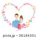 ハートフレームの中のカップル 36184301