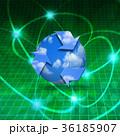 リサイクル 青空 シンボルのイラスト 36185907