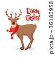 ベクトル クリスマス トナカイのイラスト 36186958