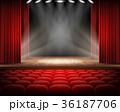 ステージ カーテン シートのイラスト 36187706