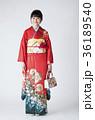 日本人 女性 着物の写真 36189540