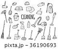 掃除道具のイラストセット 36190693