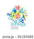 夏 デザイン 柄のイラスト 36195688