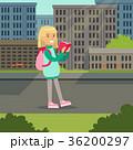 女の子 女子 読むのイラスト 36200297