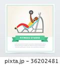 運動 エクササイズ ボディービルダーのイラスト 36202481