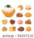 ベクトル ケーキ デザートのイラスト 36207210