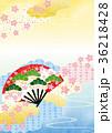 背景素材 和柄 桜のイラスト 36218428