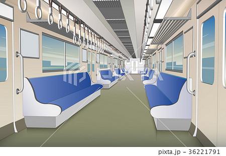 電車の車内 36221791