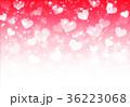 ハート 輝き 赤のイラスト 36223068