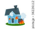 住宅 火事 家のイラスト 36226112
