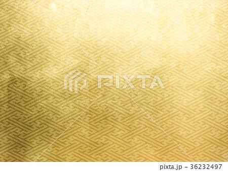 紗綾形 箔 金(背景素材) 36232497