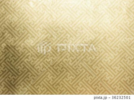 紗綾形 箔 金(背景素材) 36232501