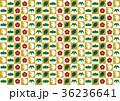 市松模様 鶴 亀のイラスト 36236641