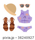 Beachwear bikini vector cloth fashion looks beach 36240927