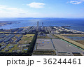空撮 発電所 航空写真の写真 36244461