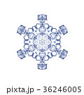 雪の結晶 結晶 雪のイラスト 36246005