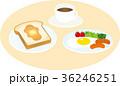 朝食 洋食 ベクターのイラスト 36246251