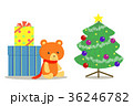 クリスマスプレゼントとツリー 36246782