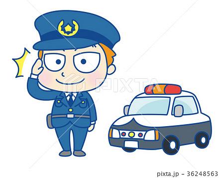 敬礼する警察官 36248563