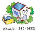 ソーラーパネル 太陽光発電 エコのイラスト 36249553