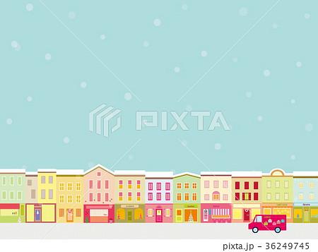 街並み クリスマスシーズン 雪 36249745
