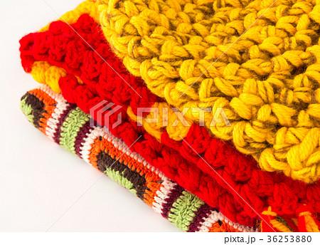 編み物 毛糸 冷え性対策 ニット 防寒具 冬 手編み 防寒着 36253880