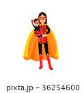 スーパーウーマン 子供 子のイラスト 36254600