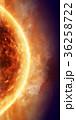 太陽 恒星 フレアのイラスト 36258722