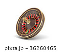 3d rendering of an isolated wooden casino roulette 36260465
