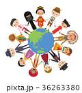 地球 民族衣装 男女 手つなぎ 平和 36263380