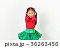 子供 クリスマス 女の子の写真 36263456