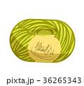 毛糸 毛糸玉 黄色のイラスト 36265343