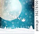 クリスマス 雪 冬 背景  36278700