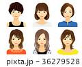 女性 20代 笑顔のイラスト 36279528