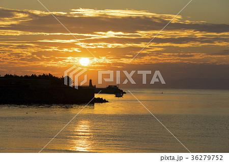 逗子海岸夕景 日没前 36279752
