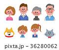 家族 三世代家族 ペットのイラスト 36280062