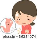 胃下垂 女性 悩むのイラスト 36284074