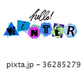Hello Winter. Welcoming card with lettering 36285279