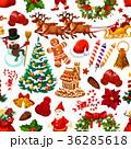 クリスマス シームレス デコレーションのイラスト 36285618