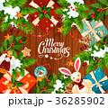 クリスマス グリーティング ベクトルのイラスト 36285902
