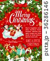 クリスマス グリーティング ベクトルのイラスト 36286146
