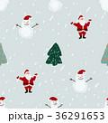 Seamless pattern with Santa, snowmen and Christmas 36291653