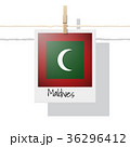 Photo of Maldives flag 36296412