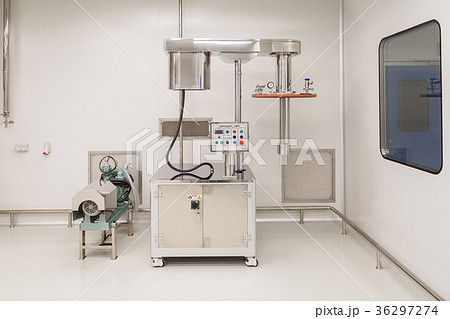 Photo production, clean room with stainless steelの写真素材 [36297274] - PIXTA