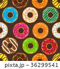ドーナツ デザート セットのイラスト 36299541