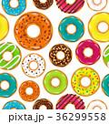ドーナツ デザート セットのイラスト 36299558
