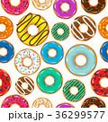 ドーナツ デザート セットのイラスト 36299577