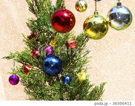 Christmas card with fir and decor 36300411