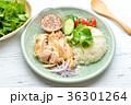 タイ料理、エスニック料理、海南鶏飯、カオマンガイ。パクチーを添えて。 36301264