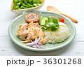 タイ料理、エスニック料理、海南鶏飯、カオマンガイ。パクチーを添えて。 36301268